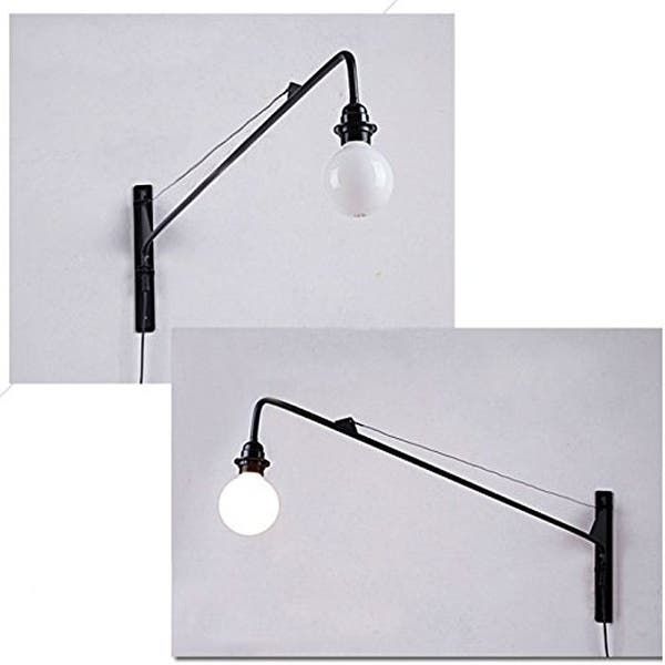 Plug In Long Swing Arm Wall Sconce On Sale Overstock 24230260