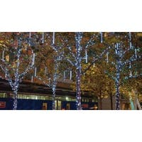 "Snowfall - Starter Set of 5 Single-Sided 14"" LED Christmas Icicle Light Tubes"