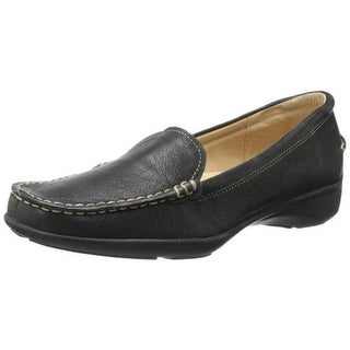Trotters Womens Zane Leather Contrast Stitch Loafers
