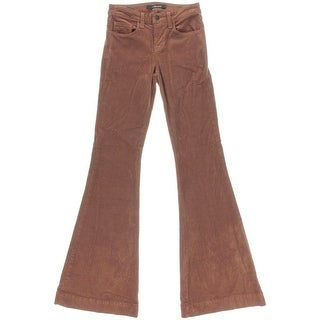 J Brand Womens Bella Mid Rise Kick Flare Corduroy Pants