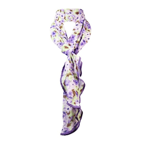 Collection Eighteen Women's Floral Print Wrap Scarf - powdered petals - os