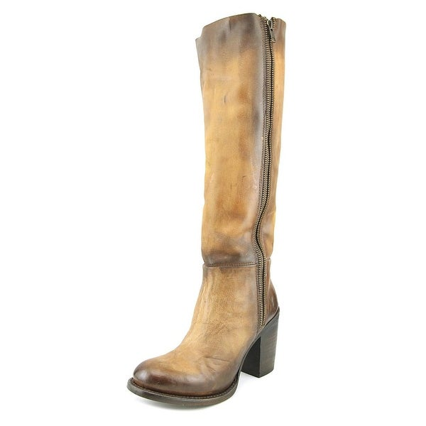 Freebird Beau Women Round Toe Leather Brown Knee High Boot