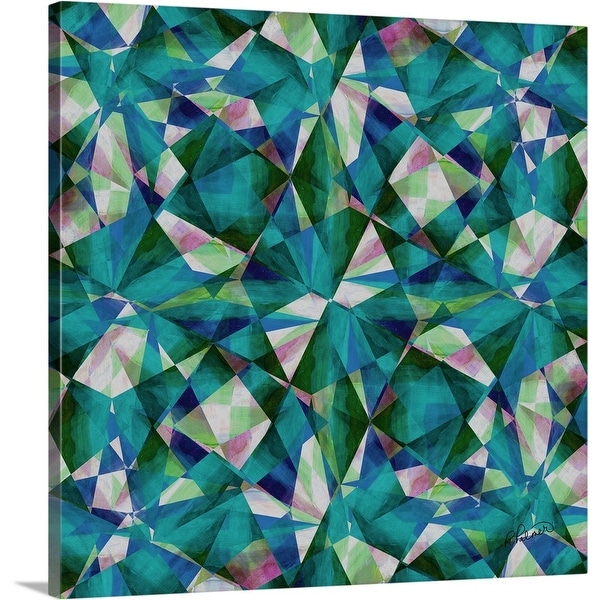 """""""Clouded Crystals Square"""" Canvas Wall Art"""
