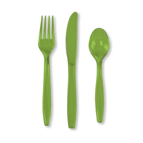 Touch Of Color Premium Cutlery Plastic Svc 8 24 Count Fresh Lime - Multi