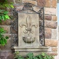 Sunnydaze French Lily Outdoor Wall Fountain - Thumbnail 2