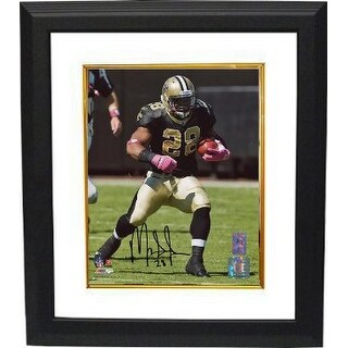 Mark Ingram signed New Orleans Saints 8x10 Photo Custom Framed Ingram Hologram