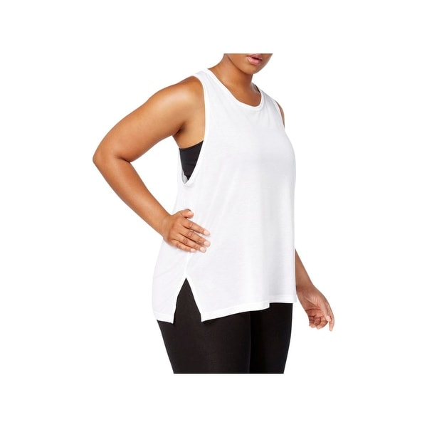 fa386c439b87ce Shop Nike Womens Plus Breathe Tank Top Training Mesh Inset - Free ...