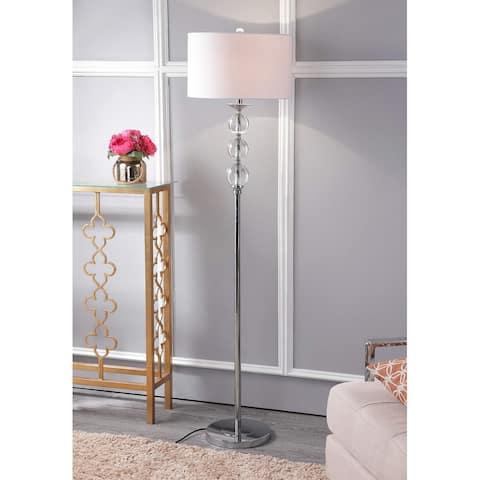 "SAFAVIEH Lighting 62-inch Pippa Glass Globe Floor Lamp - 15""x15""x61"""