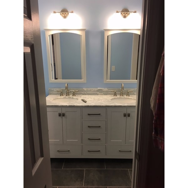 stufurhome 60 inch malibu pure white double sink bathroom vanity free shipping today