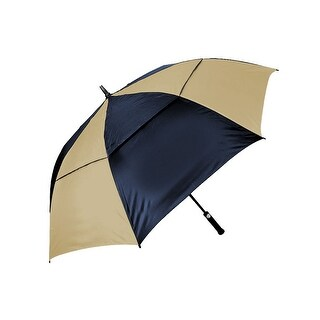 Orlimar Cyclone Auto Opening Umbrella - Navy/Tan