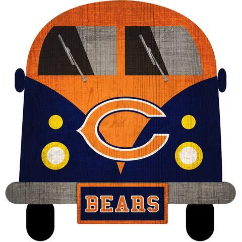 "Chicago Bears Team Bus 12"" Wooden Sign - Multi"