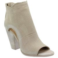 Dolce Vita Womens harem Open Toe Ankle Fashion Boots