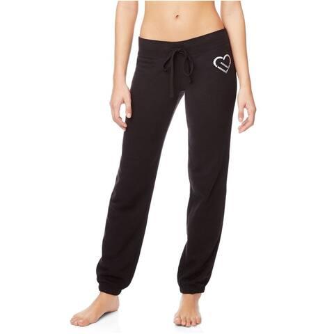Aeropostale Womens LLD Icon Athletic Track Pants, black, XX-Small