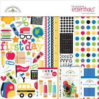 """Back To School - Doodlebug Essentials Page Kit 12""""X12"""""""