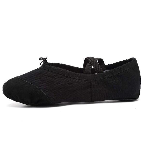 US Shoe Size Girl Ballet Toddler//Little Kid Slip On Comfort Leather Dance Shoes