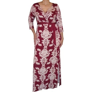 Funfash Plus Size Clothing Red Slimming Gothic Wrap Long Maxi Dress New Made in USA