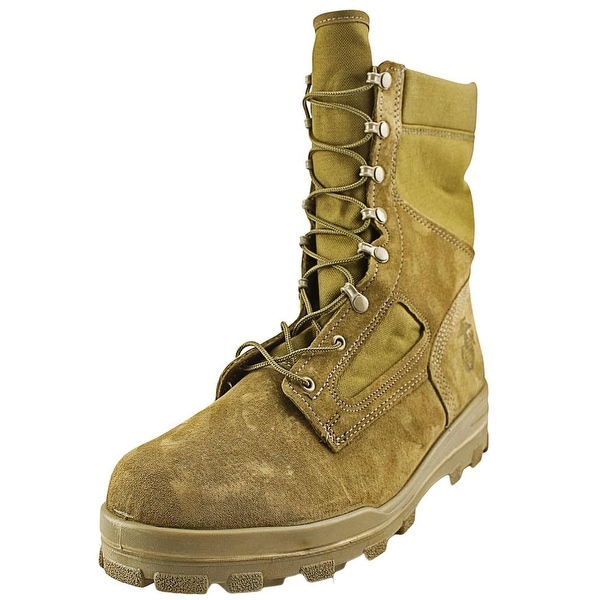 Bates Warrior Men Round Toe Leather Combat Boot