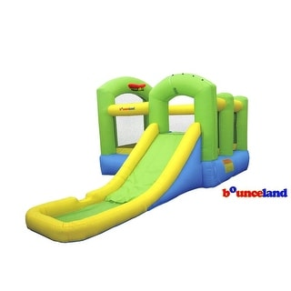 Link to Bounceland Bounce House - Bounce 'N Splash Island Wet or Dry Similar Items in Outdoor Play
