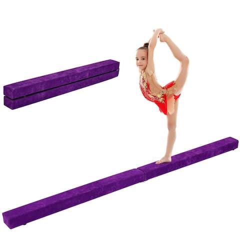Costway 7' Sectional Gymnastics Floor Balance Beam Skill Performance
