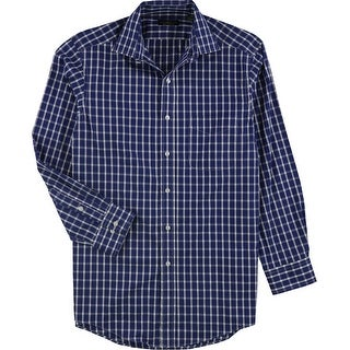 """Link to Club Room Mens Checkered Button Up Dress Shirt, blue, 15"""" Neck 32""""-33"""" Sleeve - 15"""" Neck 32""""-33"""" Sleeve Similar Items in Shirts"""
