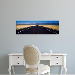 Easy Art Prints Panoramic Images's 'Road passing through a landscape, Delta, Utah, USA' Premium Canvas Art
