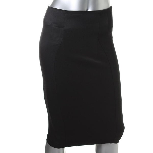 8caef9b3c Shop Zara Basic Womens Pencil Skirt Shimmer Back Zip - Free Shipping On Orders  Over $45 - Overstock - 13061162