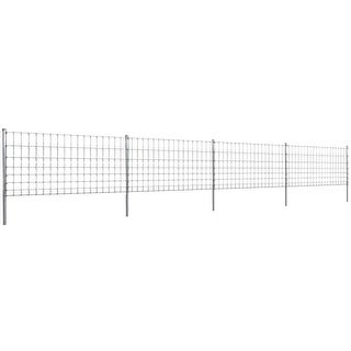 vidaXL Step-In Fence 164' with Posts Galvanized Wire 39.4/8/5.9