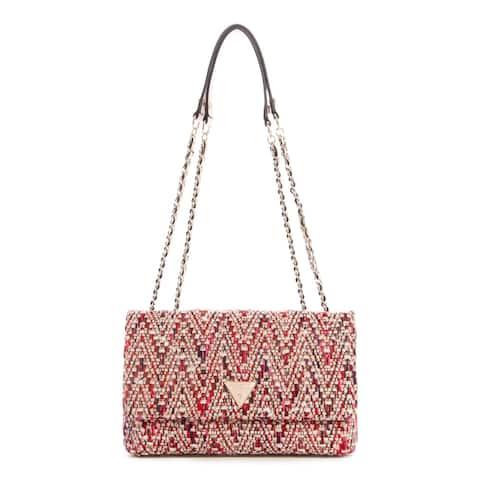 Guess Women's Cessily Convertible Crossbody Flap Cross Body Bag - Pink Multi