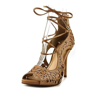 Jessica Simpson Briony Women  Open-Toe Leather Tan Heels