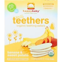 Happy Family - Banana & Sweet Potato Organic  Teethers ( 6 - 1.7 OZ)