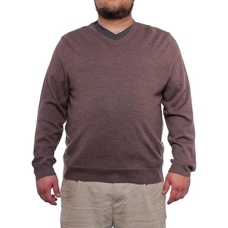 Club Room Merino Blend V-Neck Sweater Men Regular Sweater Top