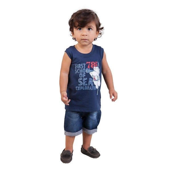 Pulla Bulla Baby Boy Graphic Tank Top Sleeveless Shirt