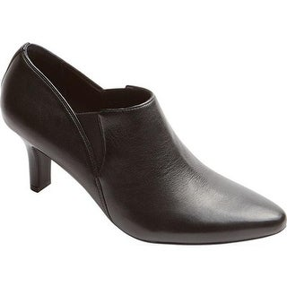 Rockport Women's Sharna Twin Gore Bootie Black Leather