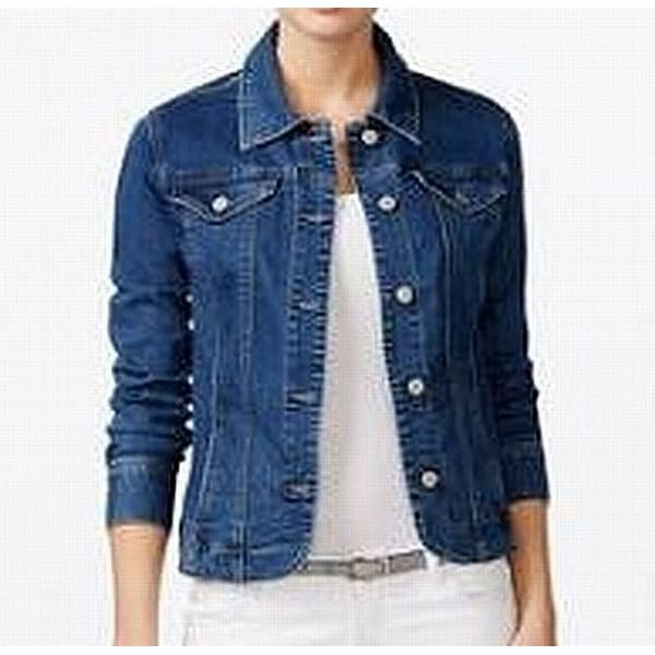 0e2bdf91cb5 Shop Lush Women's Small Lace-Up Back Pocket Denim Jacket - Free Shipping On  Orders Over $45 - Overstock - 27060511