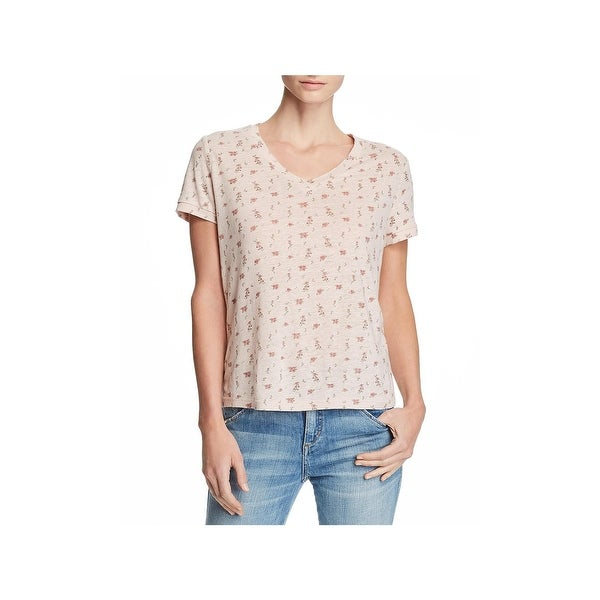 941c923f0 Shop Honey Punch Womens Graphic T-Shirt Floral Print V-Neck - M - Free  Shipping On Orders Over $45 - Overstock - 28013588