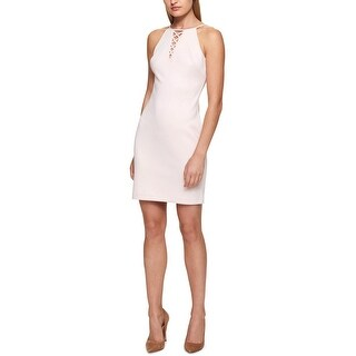 Guess Womens Cocktail Dress Halter Lace-Up