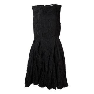 Studio M Women's Floral Textured A-Line Dress - 8