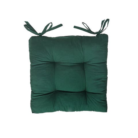 """Chair Pad (18"""" X 18"""") (Green) - Set of 2"""