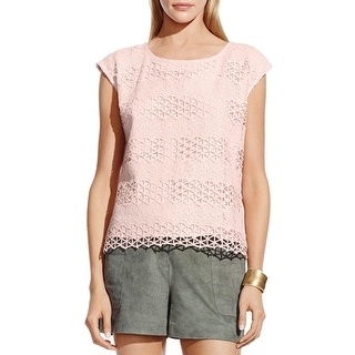 Vince Camuto Womens Blouse Lace Cut-Out