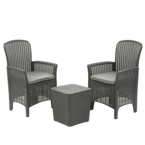 Swansea Collection 3-Piece All-Weather Chat Set