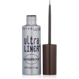 Maybelline Line Works Ultra Liner Liquid Waterproof Eyeliner, Dark Brown [302], 0.25 oz