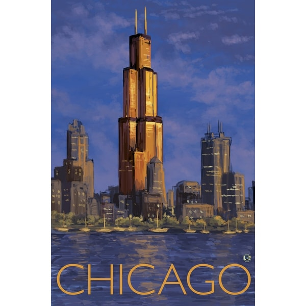 Chicago Skyline - LP Artwork (Light Switchplate Cover)
