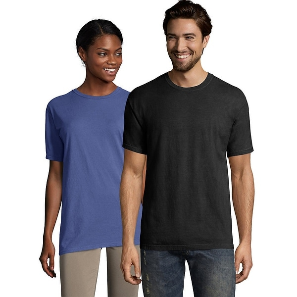 5e7d97d381b0 Shop Hanes Men's ComfortWash™ Garment Dyed Short Sleeve Tee - Color - Black  - Size - XL - Free Shipping On Orders Over $45 - Overstock - 24096894