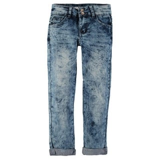 American Quality Denim Girls 4-6X Marble Denim Jean