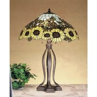 Meyda Tiffany 47592 Stained Glass / Tiffany Table Lamp from the Wild Sunflowers Collection - n/a