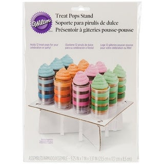 "Treat Pops Stand-White 11.75""X8.25"" Holds 12"