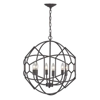 Sterling Industries 140-005 Strathroy 6 Light 1 Tier Chandelier