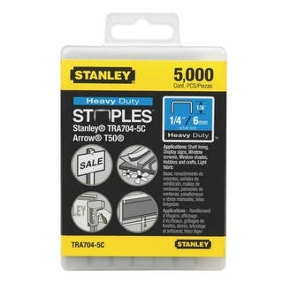 "Stanley TRA704-5C Heavy Duty Staple 1/4"", 5000/Pack