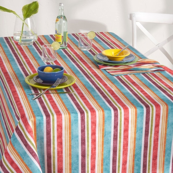 Fiesta Cameron Stripe Fabric Tablecloth. Opens flyout.