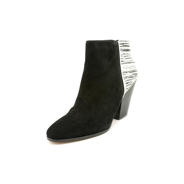 Dolce Vita Holland Women Round Toe Suede Black Ankle Boot